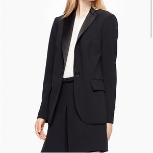 Kate Spade Black Crepe Career Blazer